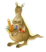 Kangaroo Animals Australia House Jumping Food Framed Prints - Kangaroo 02 Framed Print by Kestutis Kasparavicius