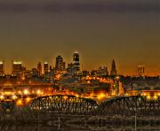 City Scape Metal Prints - Kansas City Missouri at Dusk Metal Print by Don Wolf