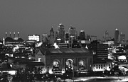 Delta Town Framed Prints - Kansas City Skyline Framed Print by Laurie Douglas