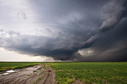 Puddle Prints - Kansas Distant Tornado Vortex 2 Print by Ryan McGinnis