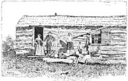 Bleeding Kansas Prints - Kansas: Early House, 1854 Print by Granger
