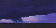 Kansas Pastels Posters - Kansas Lightning Storm Poster by Garry McMichael