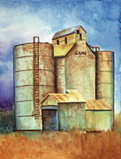 Rust Pastels Metal Prints - Kansas Past Metal Print by Tracy L Teeter