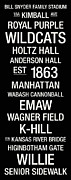 Anderson Posters - Kansas State College Town Wall Art Poster by Replay Photos