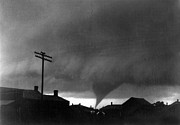Telephone Pole Framed Prints - KANSAS: TORNADO, c1902 Framed Print by Granger