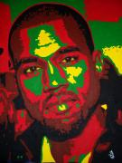 Kanye West Paintings - Kanye To The... by Angelee Borrero