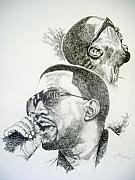 Rhythm And Blues Drawings - Kanye West by Otis  Cobb