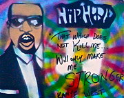 Rap Music Painting Originals - Kanye West Stronger by Tony B Conscious
