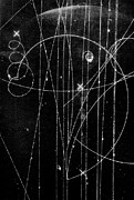Spirals Prints - Kaon Proton Collision Print by SPL and Photo Researchers