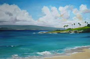 Kapalua Bay Maui Hawaii Print by Pamela Munger