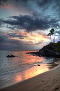 Tropical Sunset Prints - Kapalua Sunset Print by Kelly Wade