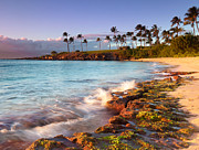 Tropical Sunset Prints - Kapalua Sunset Print by Monica and Michael Sweet