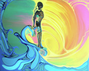 Surfing Art Paintings - Kapona Aloha by Danielle Zirkelbach