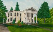 Georgetown Painting Originals - Kappa Alpha Theta by Charlotte Blanchard
