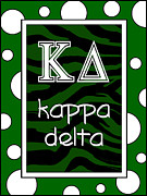 Fraternity Digital Art Prints - Kappa Delta KD Sorority Print by Suzanne Clark