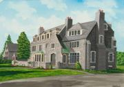 Building Painting Originals - Kappa Delta Rho South View by Charlotte Blanchard