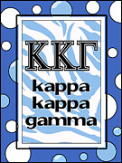 Fraternity Digital Art Prints - Kappa Kappa Gamma Print by Suzanne Clark