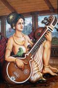 Kerala Paintings - Karakkal Matha by Anup Roy