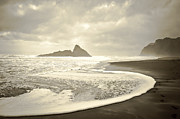 Yurix Prints - Karekare Beach in New Zealand Print by Yurix Sardinelly