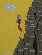 Mountain Climbing Paintings - Karen Didorec Explorer by Gregory Davis