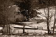 Photo Pyrography Prints - Karl Kuerner Farm Print by Gordon Beck