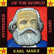 Marx Paintings - Karl Marx by Paul Helm