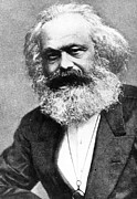 Theory Metal Prints - Karl Marx Metal Print by Unknown