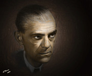Hollywood Legend Prints - Karloff Print by Arne Hansen