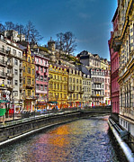 Gebaeude Metal Prints - Karlovy Vary - Ceska Republika Metal Print by Juergen Weiss