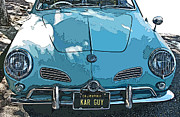 Sam Sheats Framed Prints - Karmann Ghia front study Framed Print by Samuel Sheats