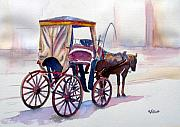 Carriage Paintings - Karozzin by Marsha Elliott