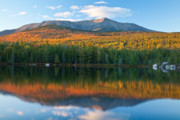 Baxter Framed Prints - Katahdin Glow Framed Print by Susan Cole Kelly
