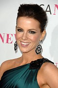 Dangly Earrings Framed Prints - Kate Beckinsale At Arrivals For Moca Framed Print by Everett