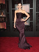 Strapless Dress Metal Prints - Kate Beckinsale Wearing A J. Mendel Metal Print by Everett