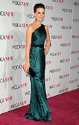 Evening Dress Framed Prints - Kate Beckinsale Wearing An Andrew Gn Framed Print by Everett