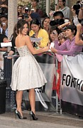 Strapless Dress Metal Prints - Kate Beckinsale Wearing An Elie Saab Metal Print by Everett