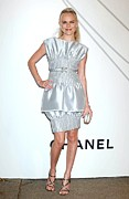 Silver Dress Prints - Kate Bosworth At Arrivals For Mobile Print by Everett