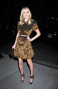 Gold Dress Framed Prints - Kate Bosworth Wearing A Burberry Framed Print by Everett