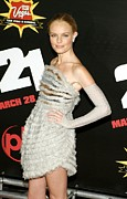 Silver Dress Prints - Kate Bosworth  Wearing A Chanel Couture Print by Everett