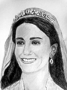 Duchess Drawings Posters - Kate Poster by Diane Leuzzi