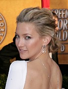 Hair Bun Framed Prints - Kate Hudson At Arrivals For 16th Annual Framed Print by Everett