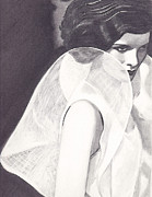 Katherine Hepburn Prints - Kate Print by Jill Dodson