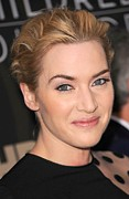 Updo Framed Prints - Kate Winslet At Arrivals For Mildred Framed Print by Everett