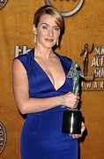 Plunging Neckline Prints - Kate Winslet Wearing A Narciso Print by Everett