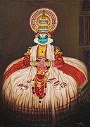 Kerala Paintings - Kathakali by Rajeev M Krishna
