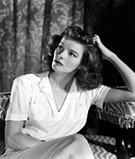 Obits 2003 Framed Prints - Katharine Hepburn, 1940s Mgm Portrait Framed Print by Everett