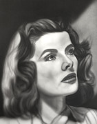Award Digital Art Originals - Katharine Hepburn by Jeff Mueller