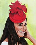 Duchess Of Cambridge Paintings - Katherine Duchess of Cambridge by Betty-Anne McDonald