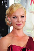 Hair Bun Metal Prints - Katherine Heigl At Arrivals For Life As Metal Print by Everett
