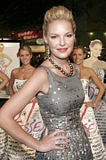 Gray Dress Posters - Katherine Heigl Wearing A Bill Blass Poster by Everett